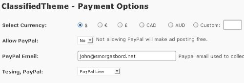 classified theme payment options