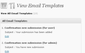wordpress directory email templates admin