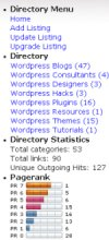wordpress directory menu widgets