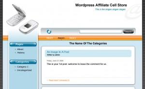 Wordpress Affiliate Niche Store Cellphone Theme