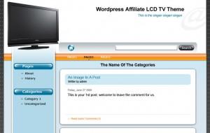 Wordpress Affiliate Niche Store LCD TV Theme