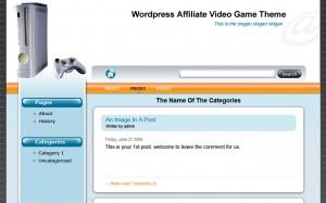 Wordpress Affiliate Niche Store Video Game Theme