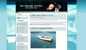 Wordpress Theme My Online Office: 2 Column Version