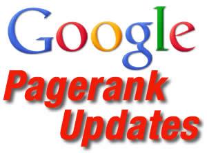 Google pagerank updates