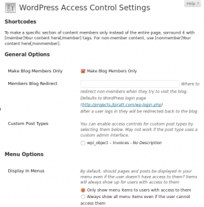 wordpress-access-control