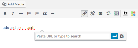 WordPress 4.5 inline link editing