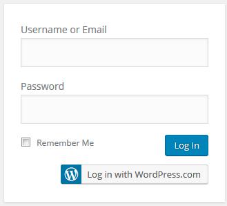 WordPress 4.5 login box