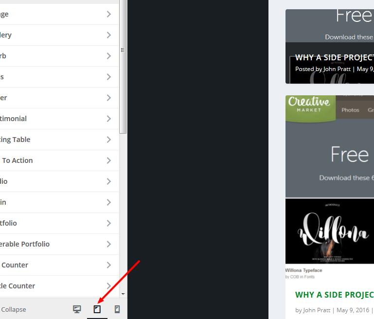 WordPress responsive theme customizer preview