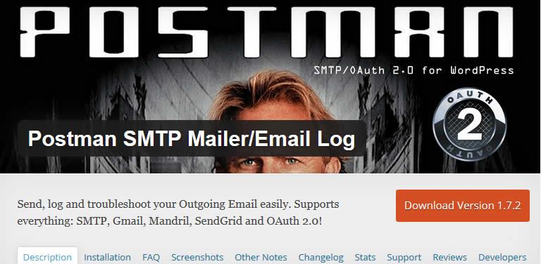 Postman WordPress SMTP plugin